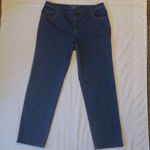 CJ Banks Classic Fit Denim Blue Jeans 18W Tall